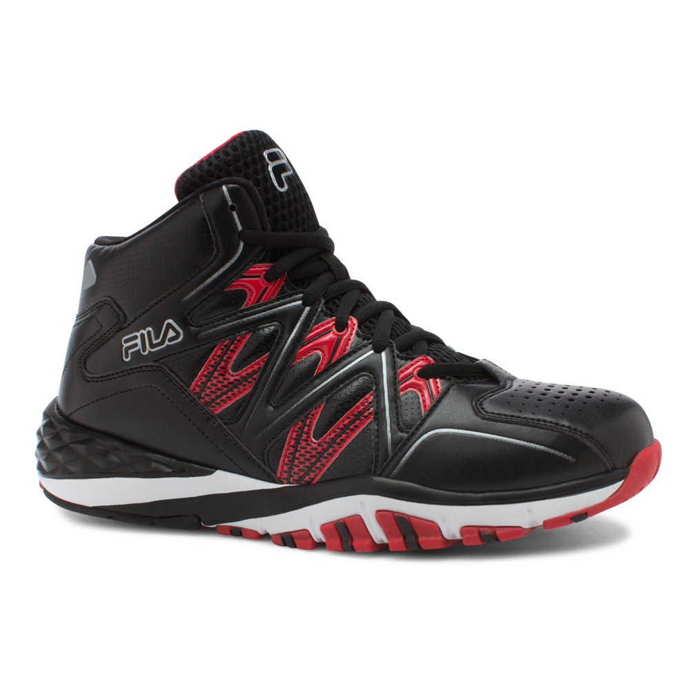 Fila POSTERIZER Mens Black Red Athletic Basketball Shoes by Fila