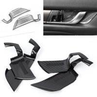 GZYF 4PCS ABS Carbon Fiber Style Interior Door Handle Bowl Cover For Honda Accord 2018