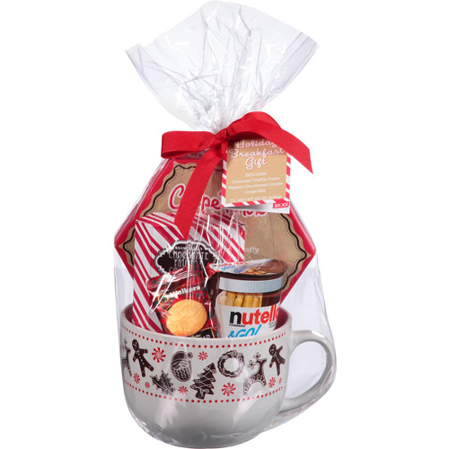 Breakfast Holiday Gift Set with Large Mug, 5 pc