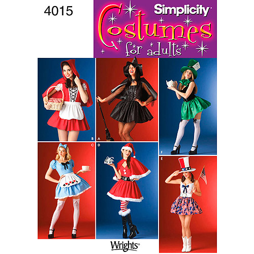 Simplicity Pattern Misses' Costume, (10 ,12, 14 ,16)