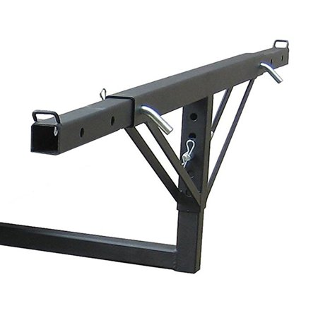 Tow Tuff Adjustable Steel Truck Bed Extender for Class III & Class IV Receivers