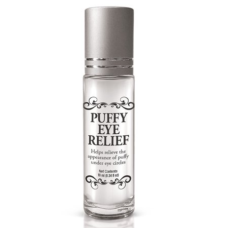 Puffy Eye Treatment Relief Roll-on Formula Cools Skin Reduces Under Eye Bags, 10 ml. - Made in USA  - Made in the USA