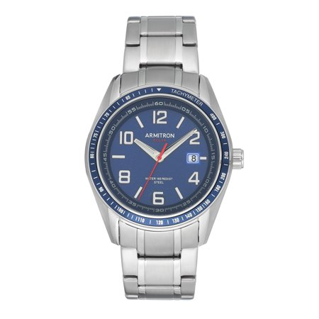 Armitron Solar Stainless Steel Watch with Adjustable Link Bracelet