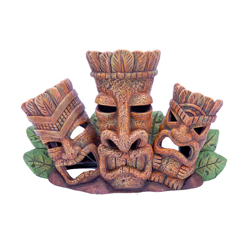 Penn Plax Tiki Tribe Aquarium Ornament