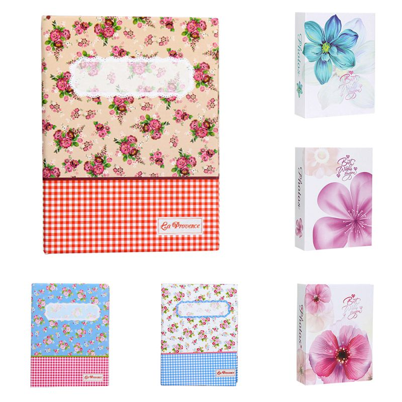 MUXUAN 100 Photos Flower Pattern Photo Album Storage Case Family Wedding Baby Memory