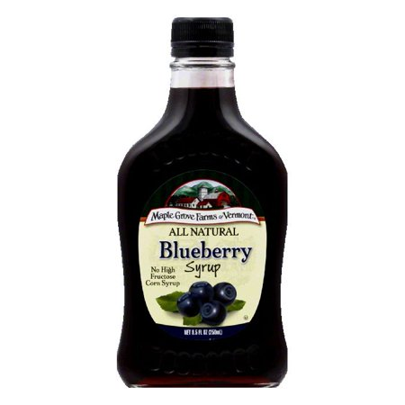 Maple Grove Farms Syrup Natural Blueberry, 8.5 OZ (Pack of ...
