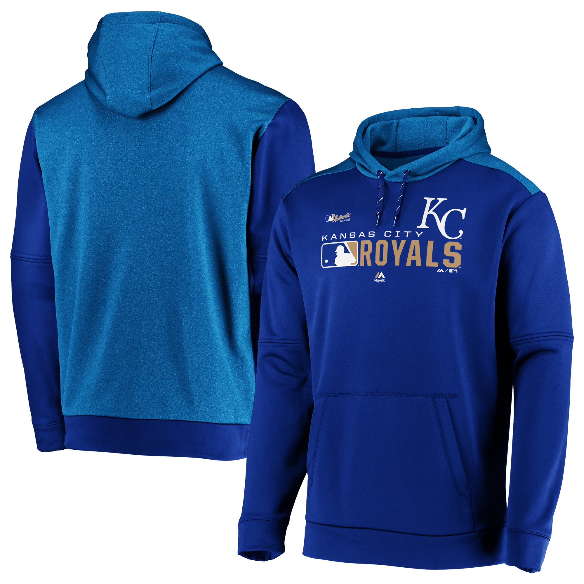 Kansas City Royals Majestic Authentic Collection Team Distinction Pullover Hoodie - Royal