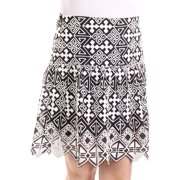 MARE MARE Womens Black Embroidered Geometric Above The Knee A-Line Skirt  Size: XS