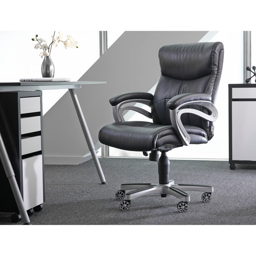 Sealy Posturepedic Office Chair Fixed Arm Chair, Black