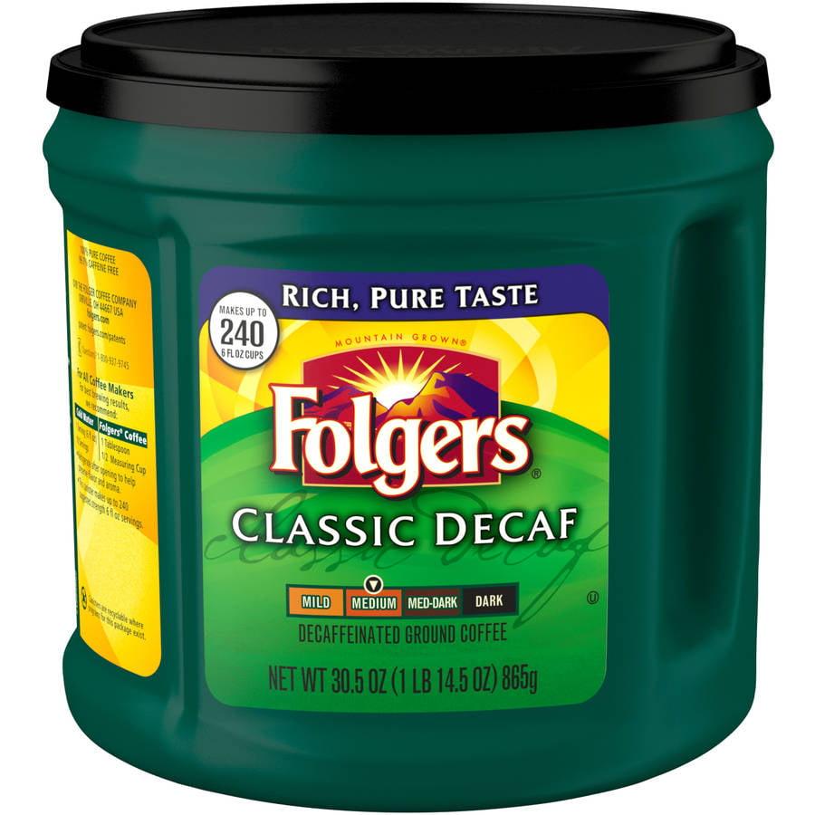 Folgers Classic Decaf Medium Ground Coffee, 30.5 oz