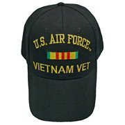 Buy Caps and Hats AIR FORCE VIETNAM BASEBALL CAP Black Veteran Hat Mens Vet