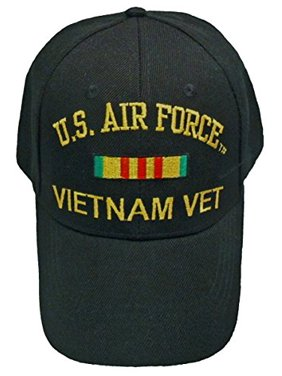 c34c9abe018 Product Image Buy Caps and Hats AIR FORCE VIETNAM BASEBALL CAP Black  Veteran Hat Mens Vet