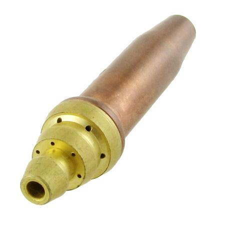 Unique Bargains Parts Propane Acetylene Gas Cutting Torch Tip Nozzle Copper Tone