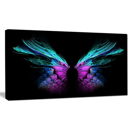 Blue Butterfly Designs (Design Art 'Blue Butterfly Wings' Graphic Art on Wrapped)