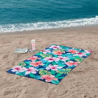 "Mainstays Hibiscus Floral Beach Towel - 34"" x 64"" - 1 Pack"