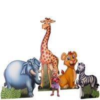 Safari Animals Cardboard Stand-Up Set