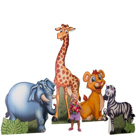3 ft. to 7 ft. 2 in. Safari Animals Standee Set](Cardboard Animals)