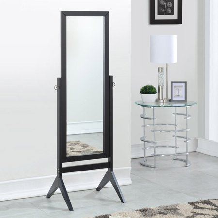 Full Length Rectangular Floor Mirror with Tilt Wood Frame ...