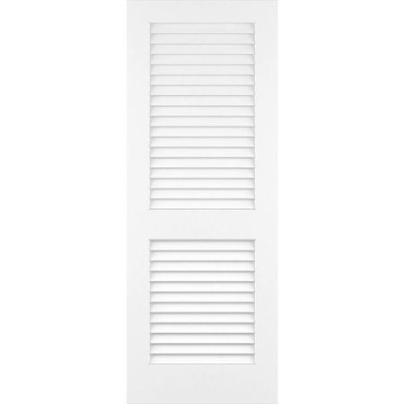Frameport Louvered Solid Manufactured Wood Plantation Louver Slab Standard Door