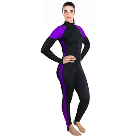 Ivation Womens Wetsuit - Lycra Full Body Diving Suit & Sports Skins for Running, Exercising, Snorkeling, Swimming, Spearfishing & Water