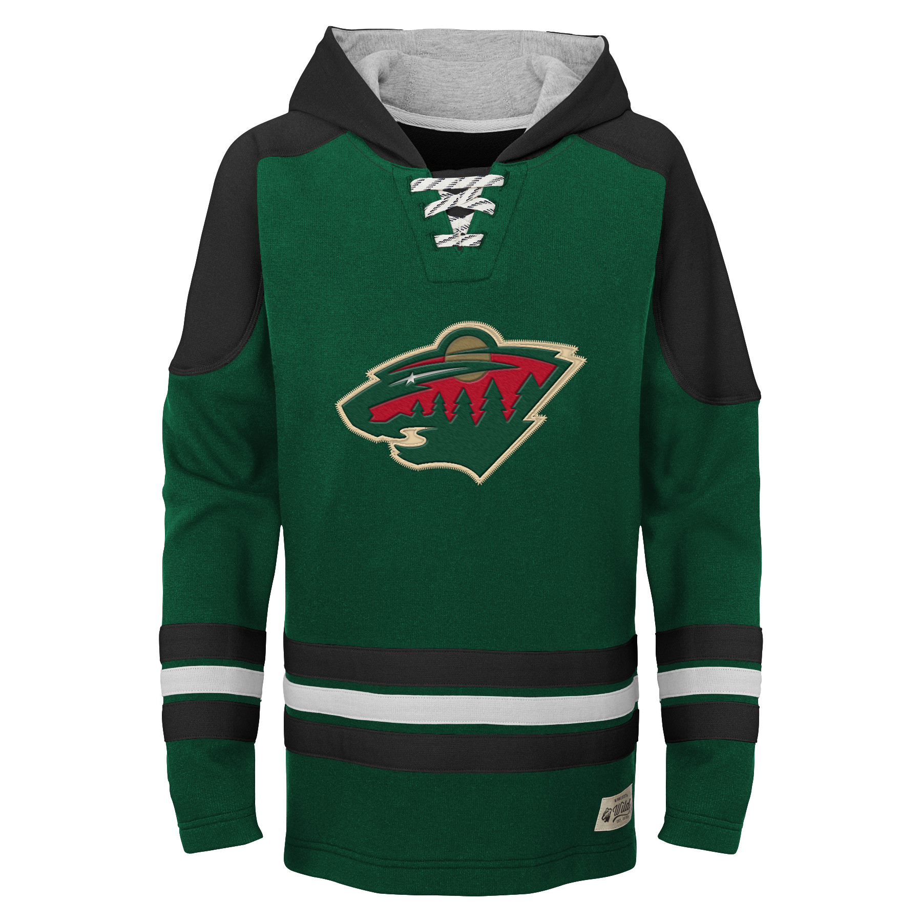 Minnesota Wild Youth Legendary Pullover Hoodie - Green