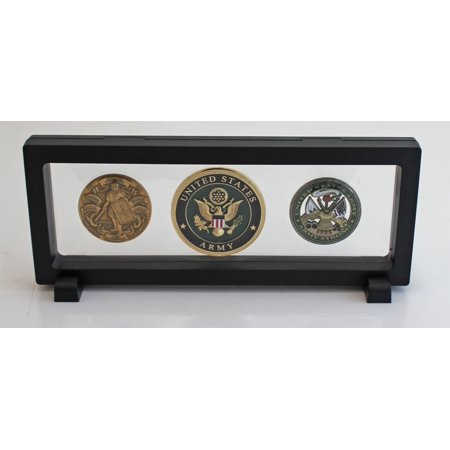 Black Finish Medals (Versatile Display Frame Case Stand for Challenge coin, Medals, Lighters Display Case - Black CN16, Versatile Display Case Frame Stand for Challenge Coins, Medals,.., By DisplayGifts Ship from US )