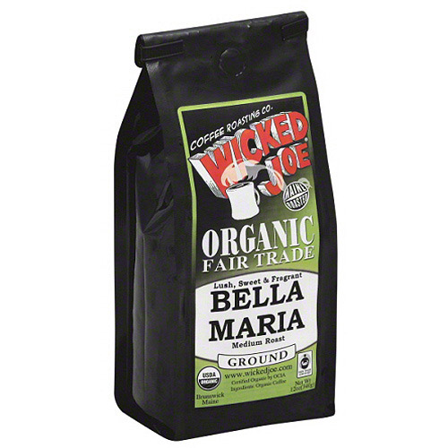 Wicked Joe Bella Maria Medium Roast Ground Coffee, 12 oz, (Pack of 6)