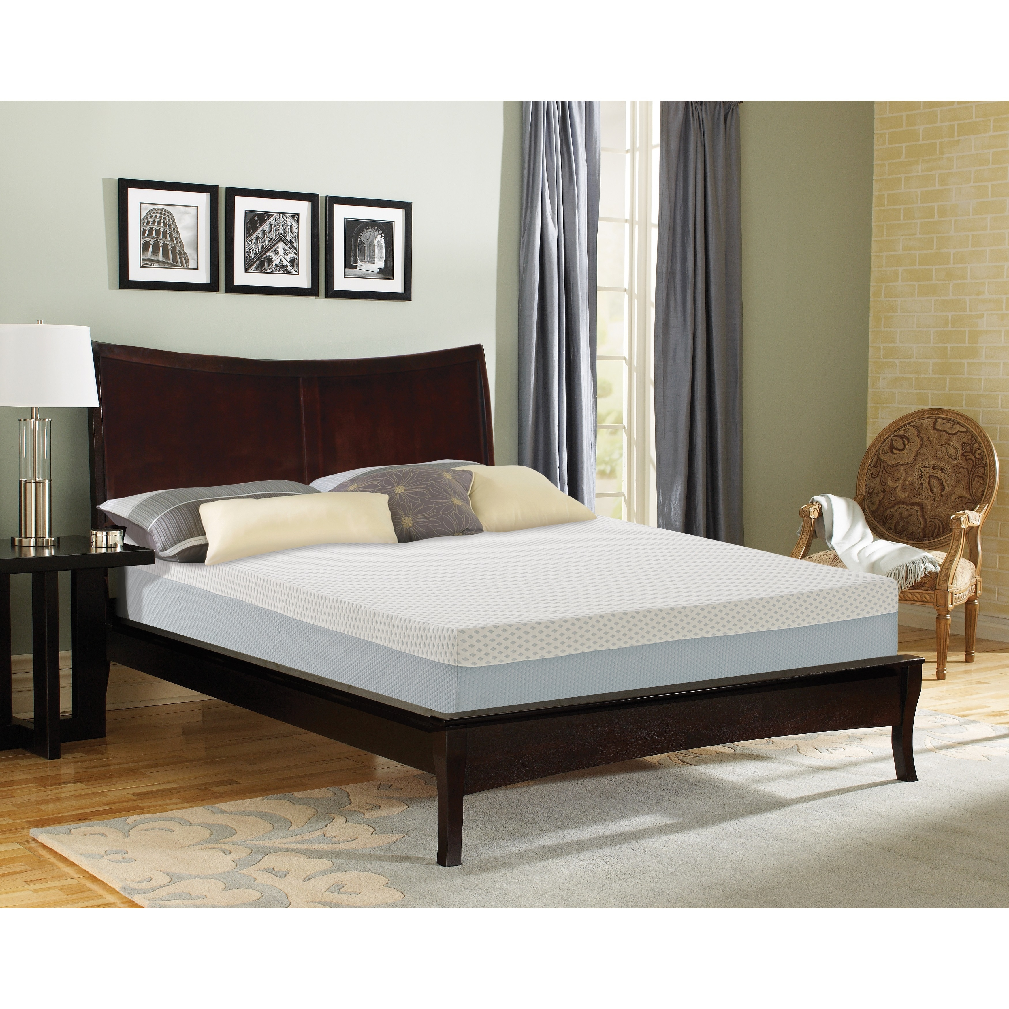 Sleep Sync  9-inch California King-size Synthetic Latex Foam Mattress