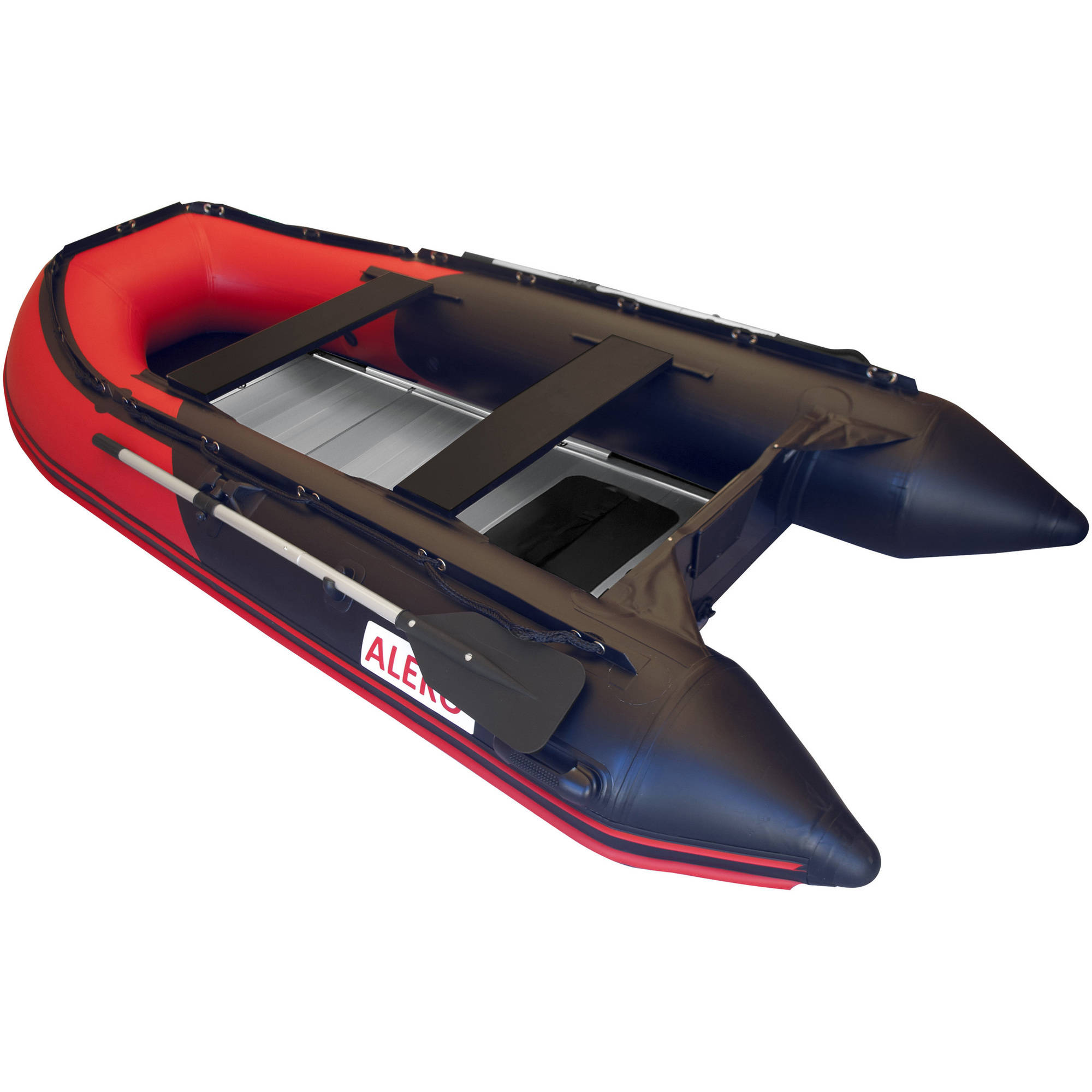 "ALEKO Boat 320 150cm 10'5"" Inflatable Boat with Aluminum Floor, Red and Black by ALEKO"