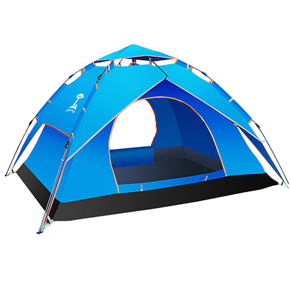 Automatic Double Layer Dome Tent Family C&ing Hiking Instant Tents 3 Person Blue  sc 1 st  Walmart Canada : tents 3 person - afamca.org