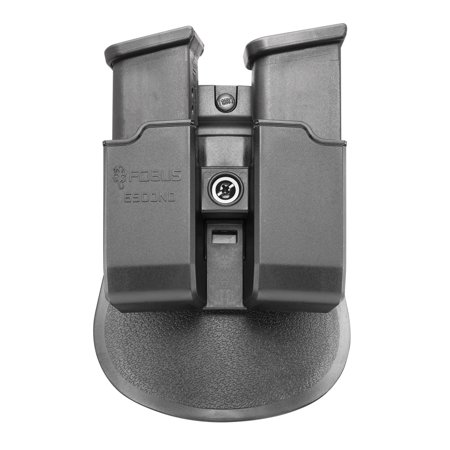Double Paddle Mag Pouch - Fobus 6900NDP Paddle Double Magazine Pouch Fits Glock & HK 9mm/40 Cal Polymer Black
