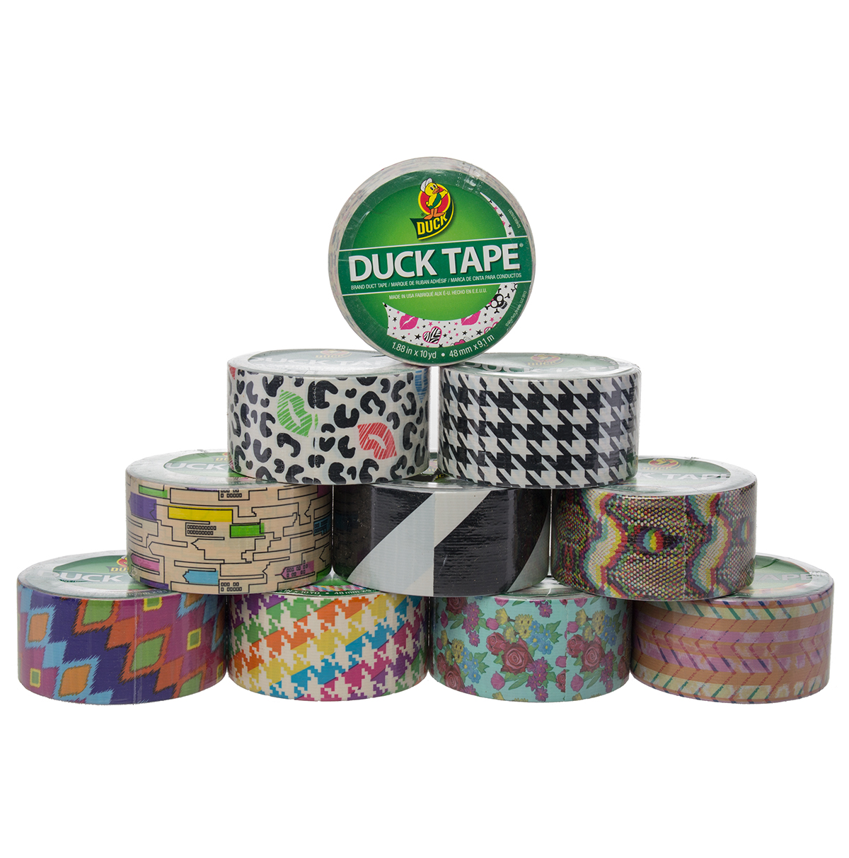 colored duct tape patterns
