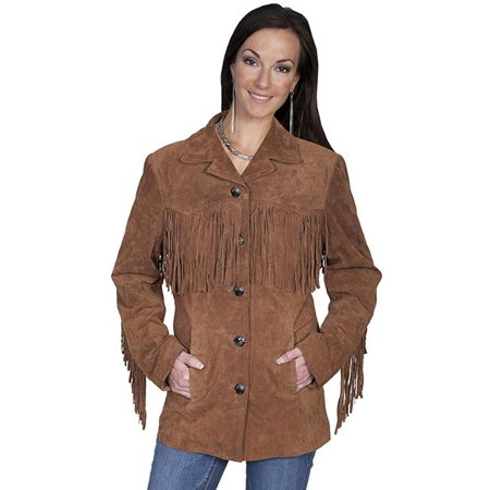 Women's Scully Suede Fringe Jacket - Embroidered Fringe Jacket