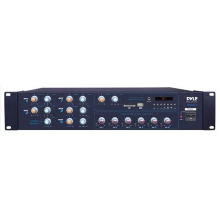 6-Ch. ed BT Amplifier Receiver | Multi-Zone Audio & Microphone Control System with FM Radio, Mic Talkover Function, 4200