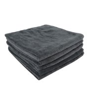 5pcs Gray 300gsm Microfiber Cleaning Cloth Absorbent Car Washing Drying Towel 40 x 40cm