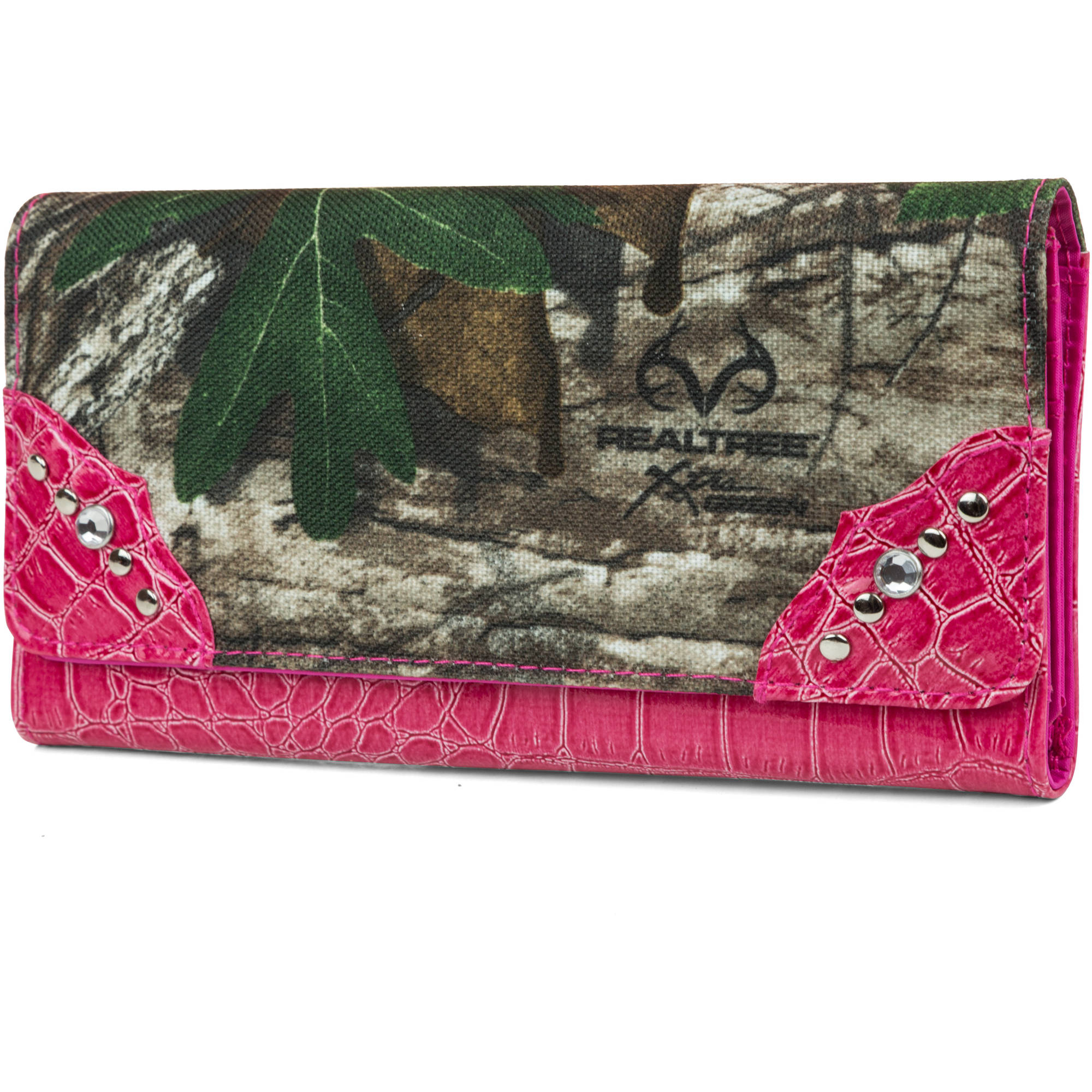 Real Tree Glitzy Zip Around Wallet