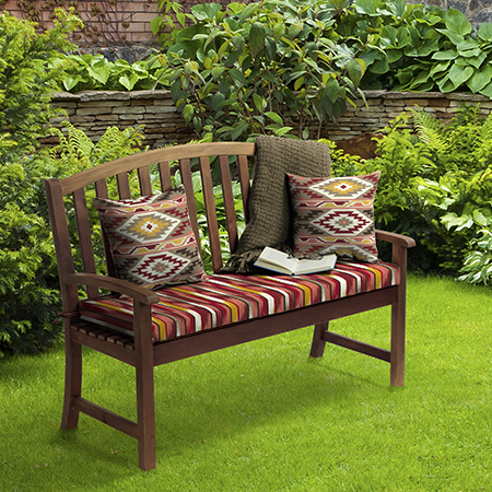 Mainstays Aztec and Ombre Stripe Outdoor Cushion Collection
