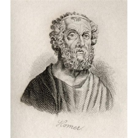 Posterazzi DPI1856799 Homer C.900 Bc- C.850 Bc Ancient Greek Poet Engraved by J.W.Cook Poster Print, 13 x 16 - image 1 de 1