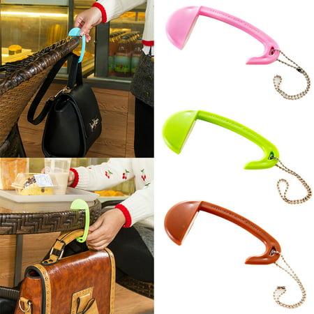 Heepo Portable Removable Plastic Bag Hook Table Desk Purse Handbag Holder Mini Hanger