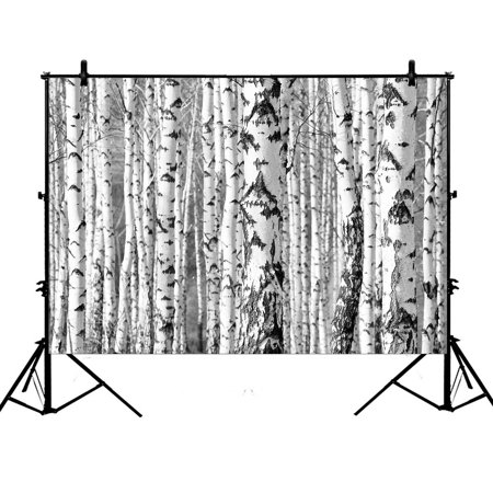 YKCG 7x5ft Birch Trees Trunks Photography Backdrops Polyester Photography Props Studio Photo Booth Props