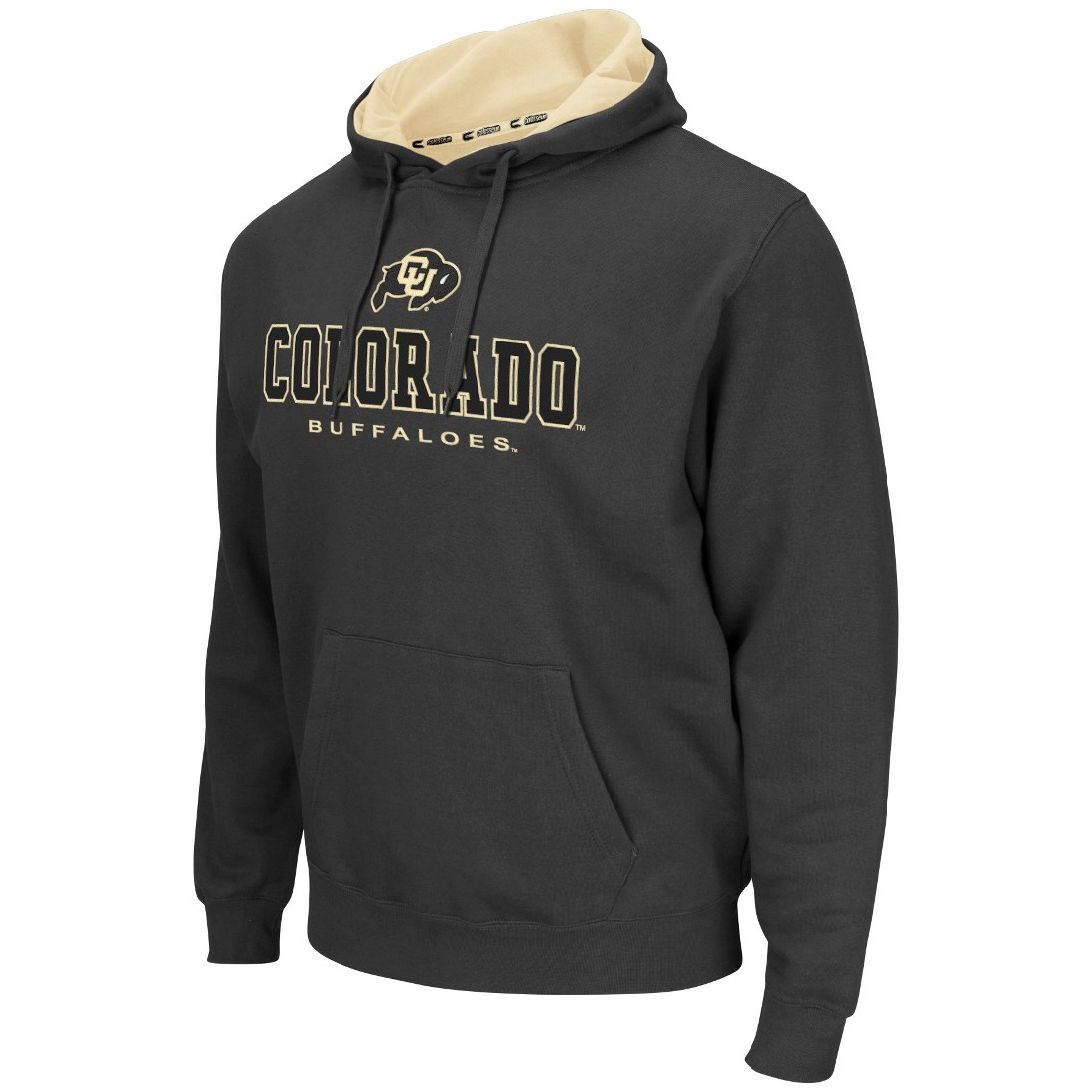 """Colorado Buffaloes NCAA """"Zone II"""" Pullover Hooded Men's Sweatshirt - Charcoal"""