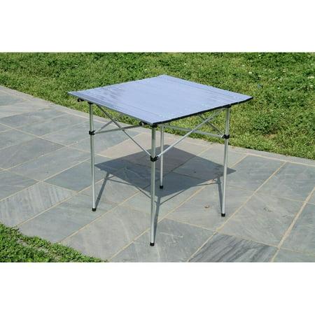 Moustache Camping Table, Portable Square Aluminum Folding Table , 70cmx70cm - image 5 of 6
