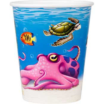 Ocean Party Cups (8-pack) - Party Supplies