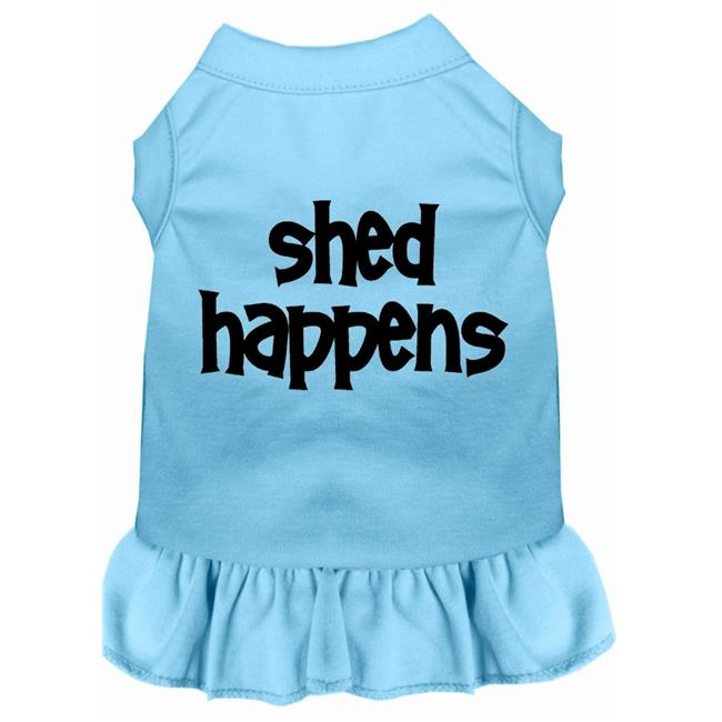 Shed Happens Screen Print Dress Baby Blue 4X (22) - image 1 of 1