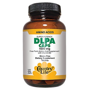Super Potency DLPA 1000 mg with B-6 by Country Life 60 Capsules