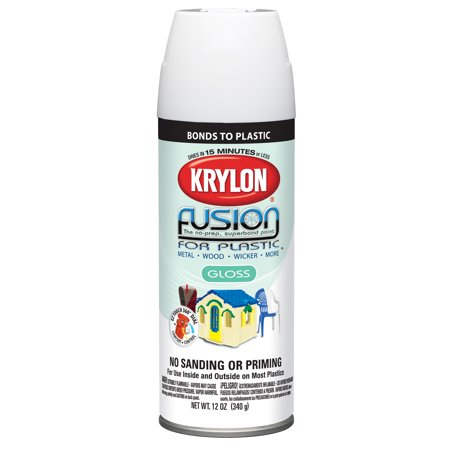 - Krylon 12 oz Fusion Gloss for Plastic, White