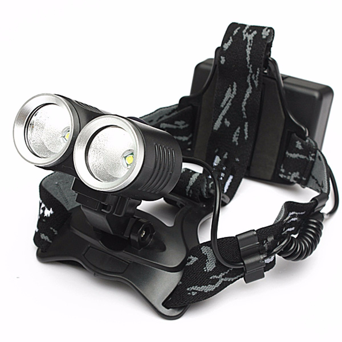 Elfeland 50000Lm 2x  T6 LED Rechargeable Headlight Headlamp Bicycle Front Light 5 Modes Head Light Torch Lamp