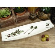 DLusso Designs Rc002 Long Dish With Olive Design, Pack Of - 3.