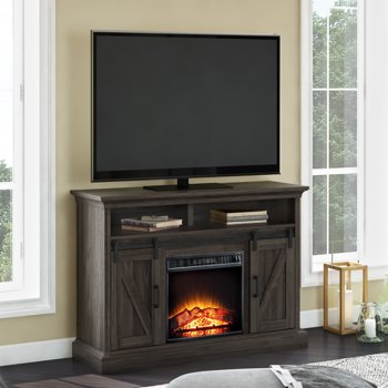 Whalen Allston Barn Door Fireplace TV Stand for TVs Up to 55