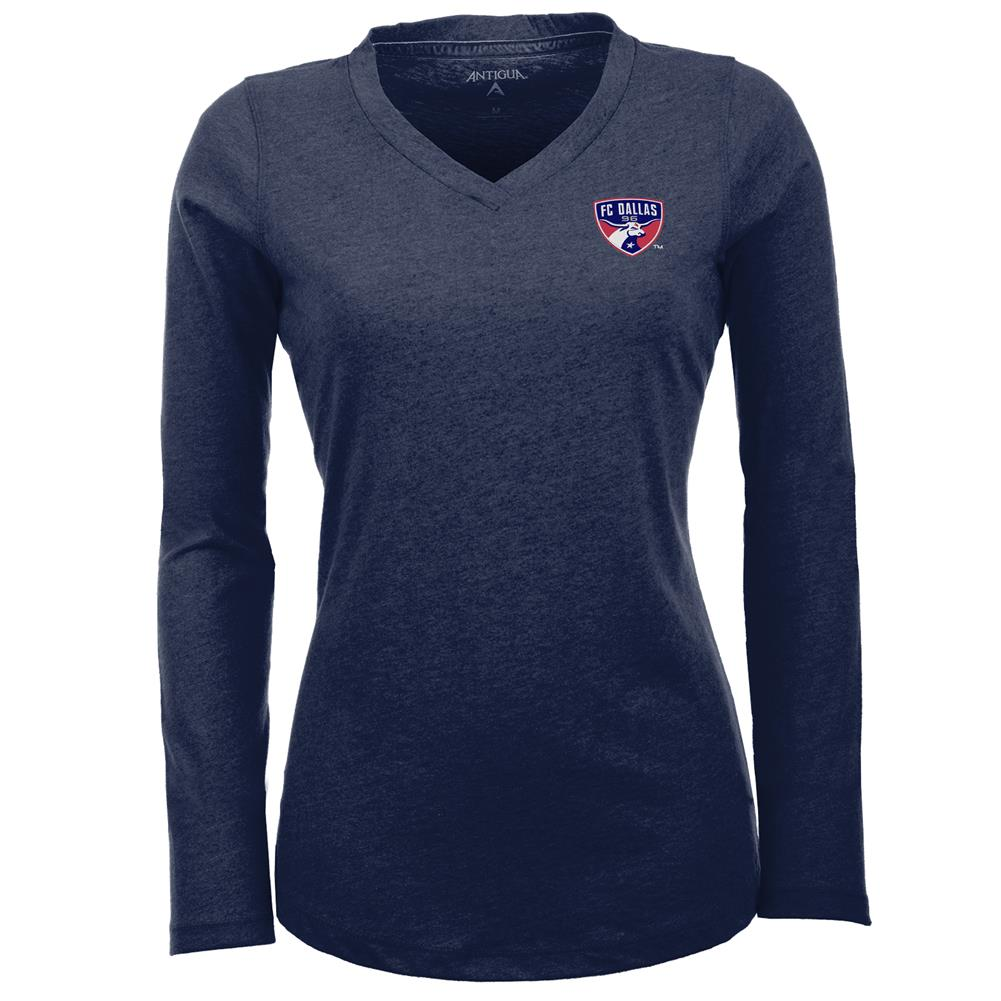 Women's FC Dallas Flip V-Neck Long Sleeve Tee